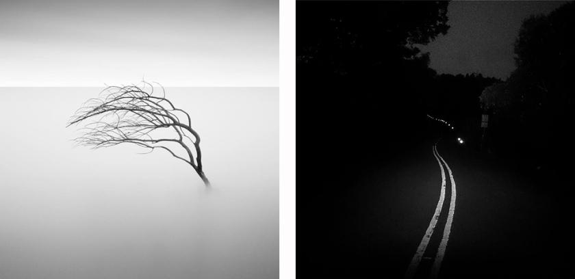 black & white long exposure photos
