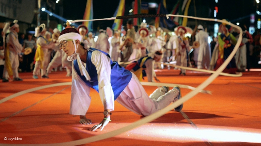Male dancer at Gangneung Danoje Festival