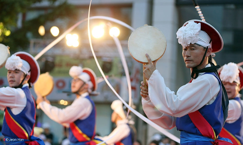 Traditional dancers at the Gangneung Danoje Festival