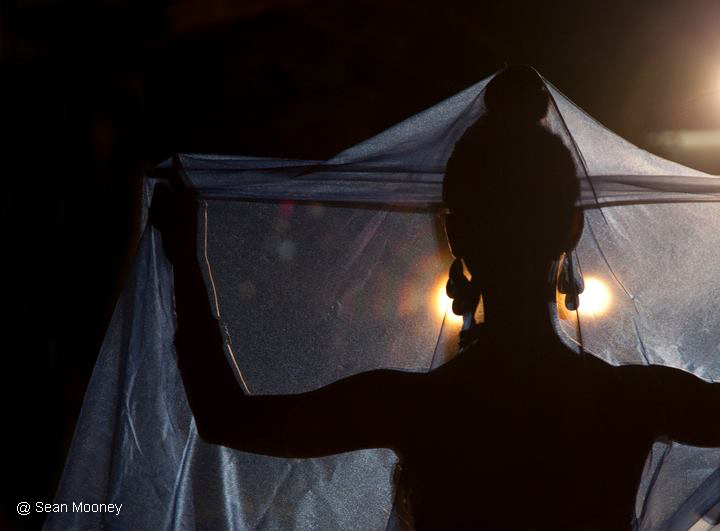 Thai dancer silhouette
