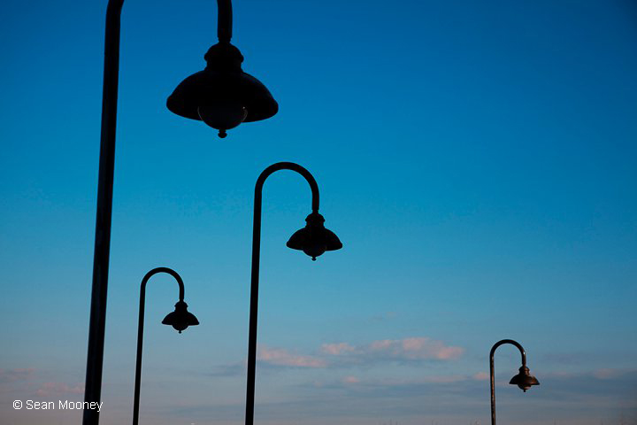 Lampost silhouettes