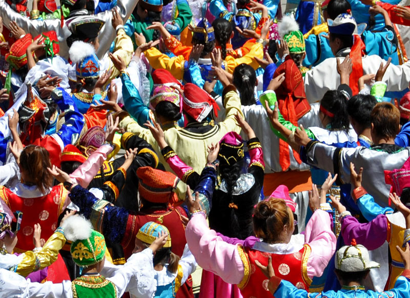 Crowds at the Naadam Festival