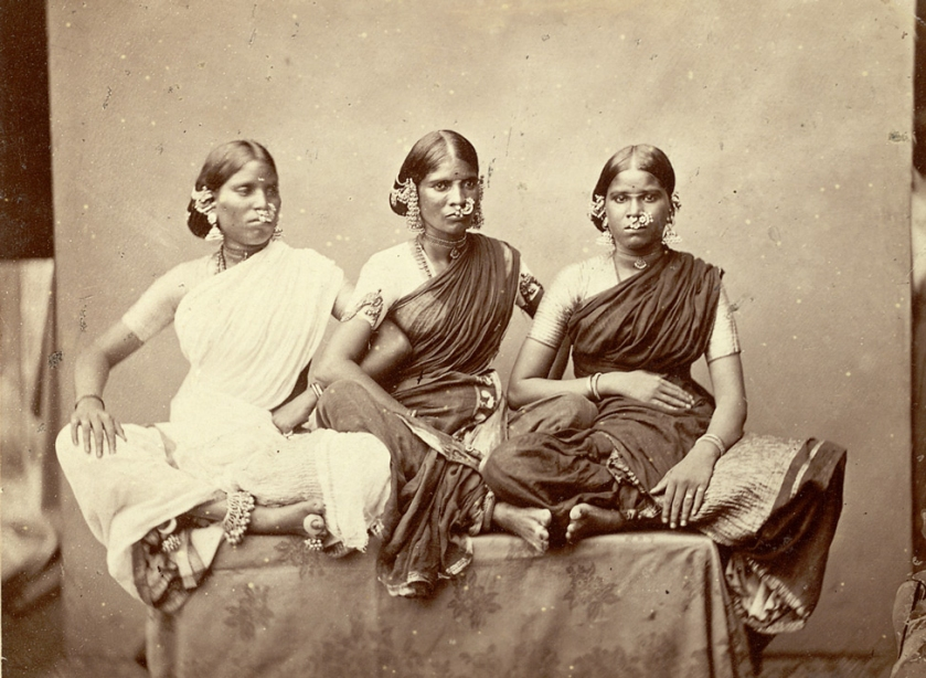 Dancing girls from Madras taken by Nicholas & Curths