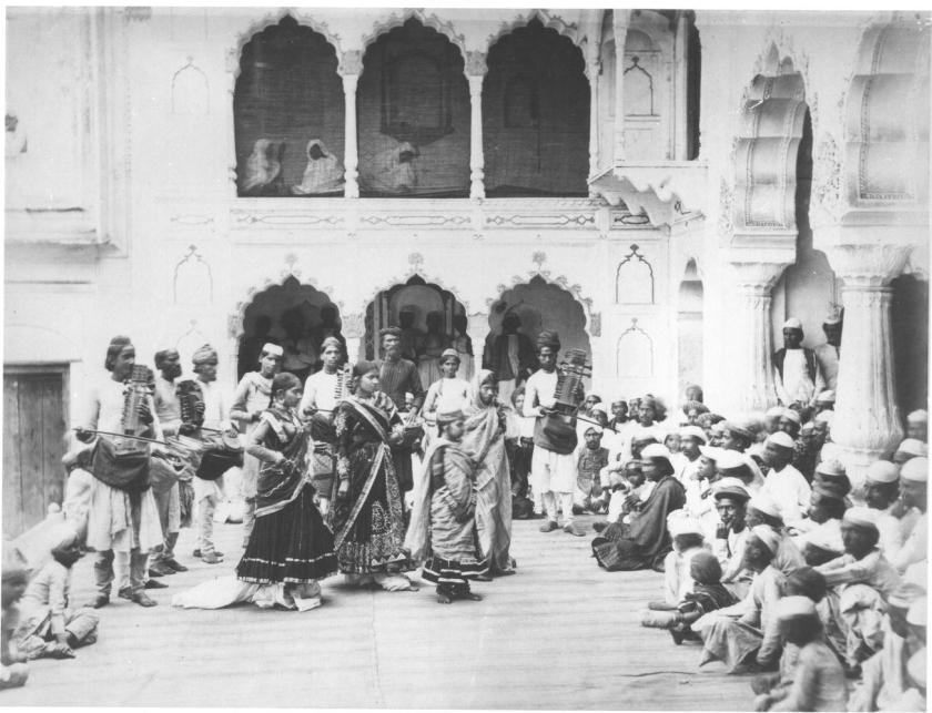 Native Nautch at Delhi (or Shalimar?), 1864 by Samuel Bourne