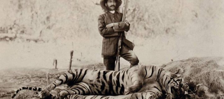 Tiger Hunter - by Indian photographer Lala Deen Dayal