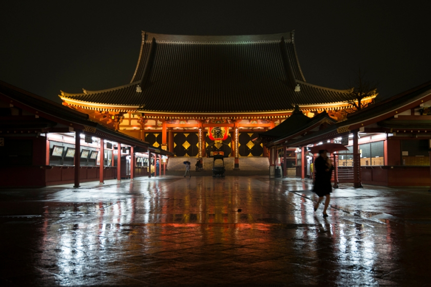 Asakusa, Sensoø-ji in the rain