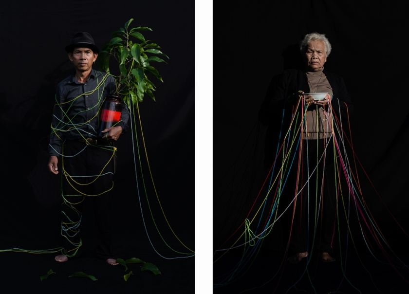 From the series 'Thread': Left: 'Champa' / Right: 'Piss and Drink'