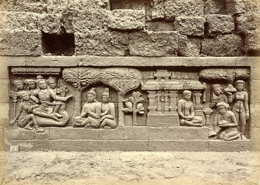 Borobudur temple panels