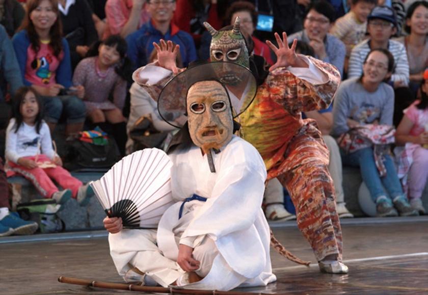 Goseong Ogwangdae at Andong Mask Festival, Korea