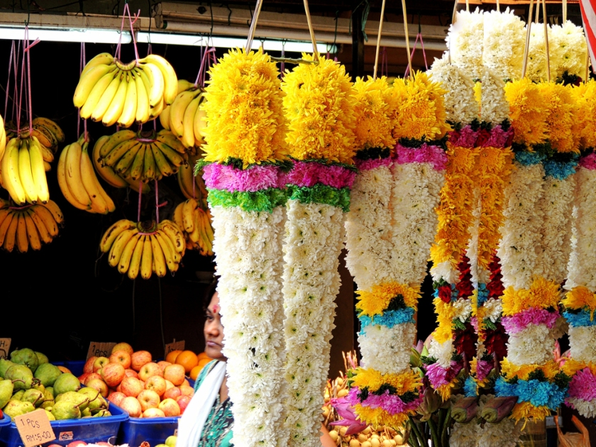 "Flower stall in ""little India"" or Brickfields of Kuala Lumpur"