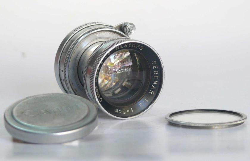 Canon Serenar 5cm 50mm f2 lens