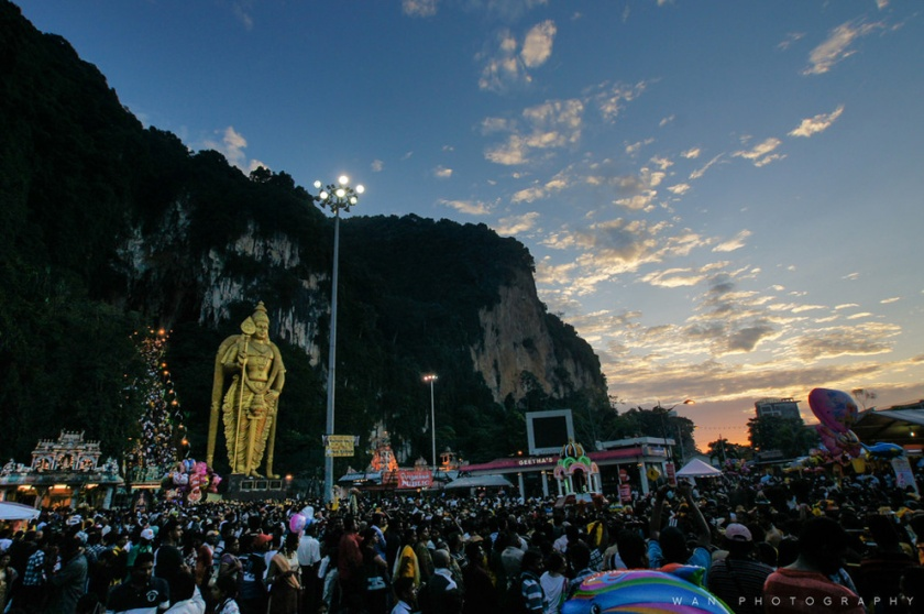 Sunrise In Batu Caves during Thaipusam festival
