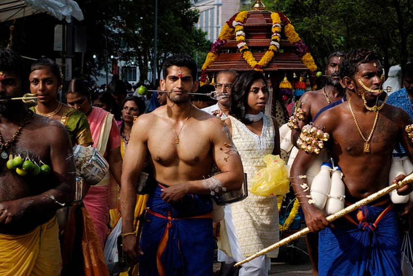 Participants at the Thaipusam festival