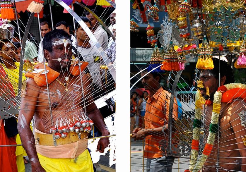 Hindu devotees at Thaipusam festival, Malaysia